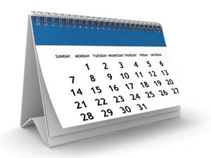 Calendar Zeta Phi Beta Sorority